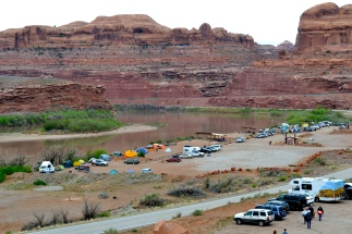 Our lovely campsite from afar.