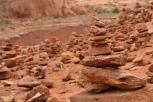 A cairn graveyard.